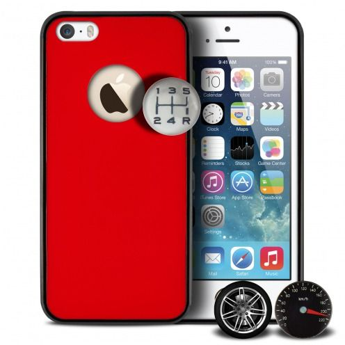 Coque QDOS® Custom Buttons Rouge iPhone 5/5S/SE