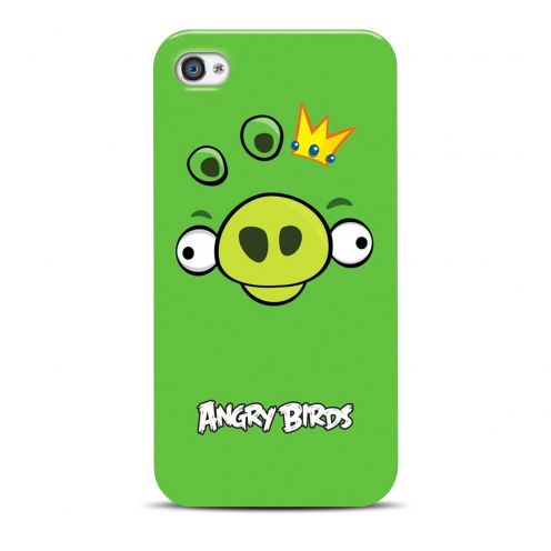 Coque Angry Birds Gear4® Pig King Vert iPhone 4