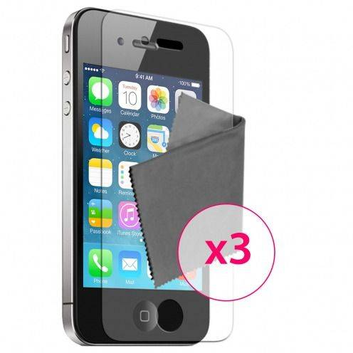 Clubcase ® Ultra Clear HQ screen protector for iPhone 4/4S 3-Pack