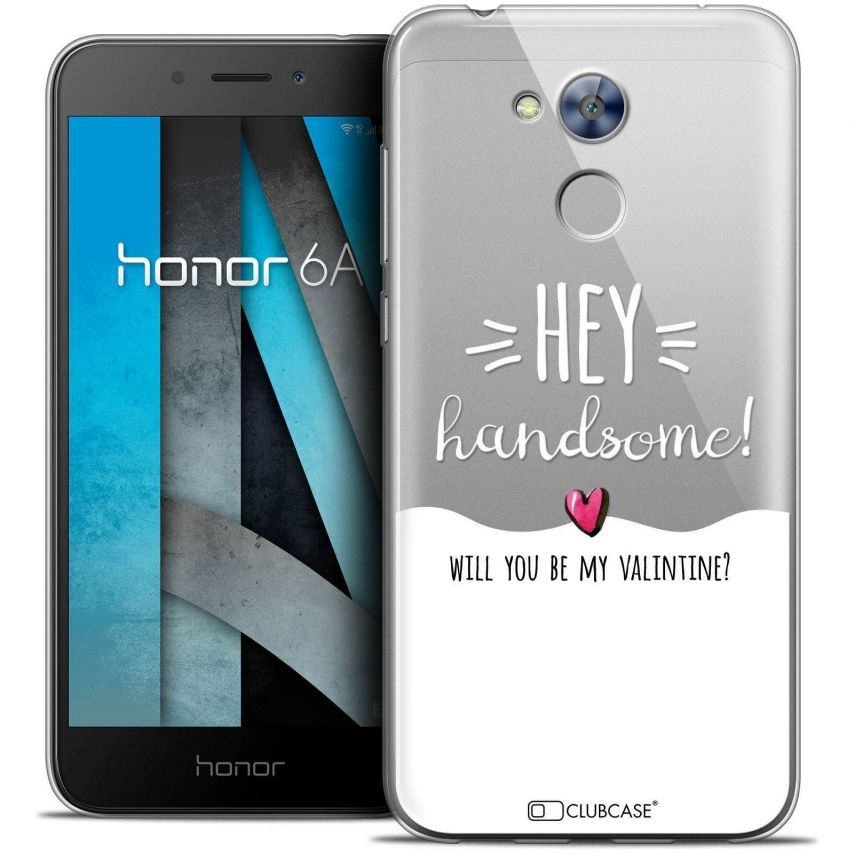 """Coque Crystal Gel Huawei Honor 6A (5"""") Extra Fine Love - Hey Handsome !"""