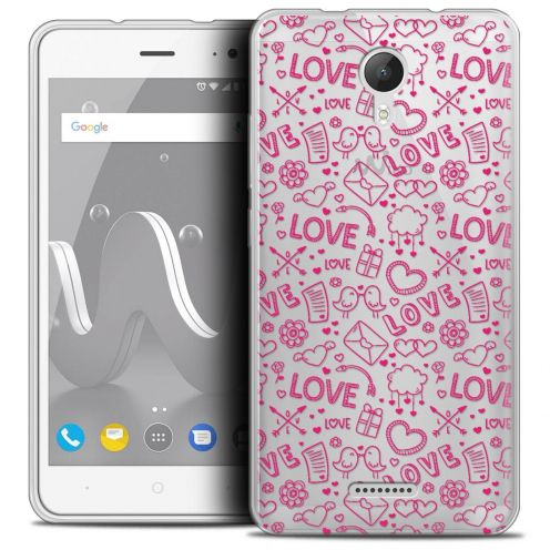 """Coque Crystal Gel Wiko Jerry 2 (5"""") Extra Fine Love - Doodle"""