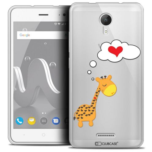 """Coque Crystal Gel Wiko Jerry 2 (5"""") Extra Fine Love - Girafe Amoureuse"""