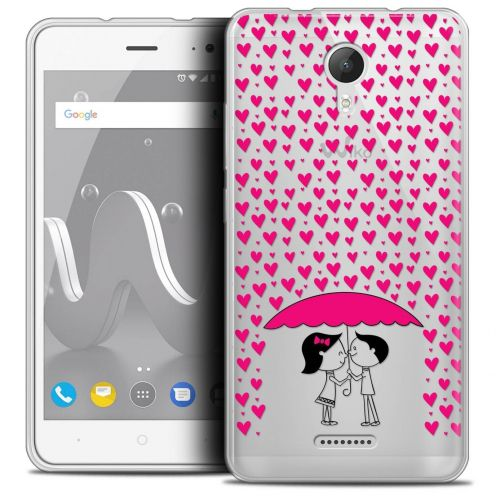 """Coque Crystal Gel Wiko Jerry 2 (5"""") Extra Fine Love - Pluie d'Amour"""