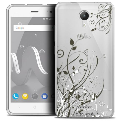 """Coque Crystal Gel Wiko Jerry 2 (5"""") Extra Fine Love - Hearts Flowers"""
