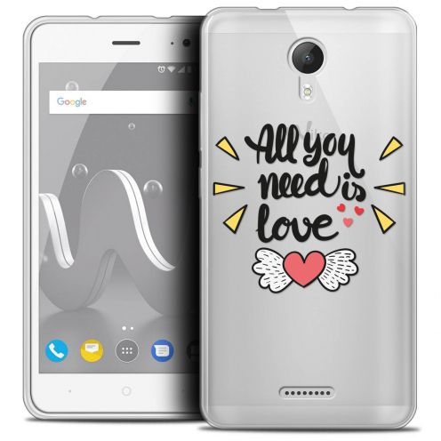 """Coque Crystal Gel Wiko Jerry 2 (5"""") Extra Fine Love - All U Need Is"""