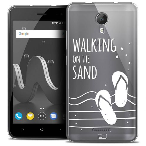 "Extra Slim Crystal Gel Wiko Jerry 2 (5"") Case Summer Walking on the Sand"