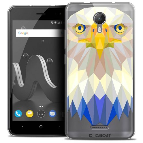 "Extra Slim Crystal Gel Wiko Jerry 2 (5"") Case Polygon Animals Eagle"
