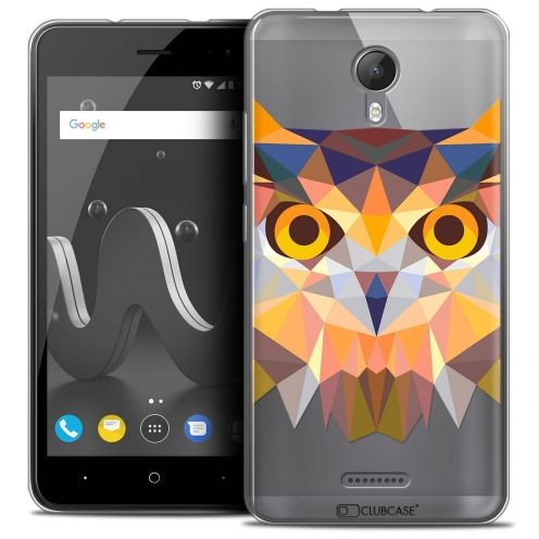 "Extra Slim Crystal Gel Wiko Jerry 2 (5"") Case Polygon Animals Owl"