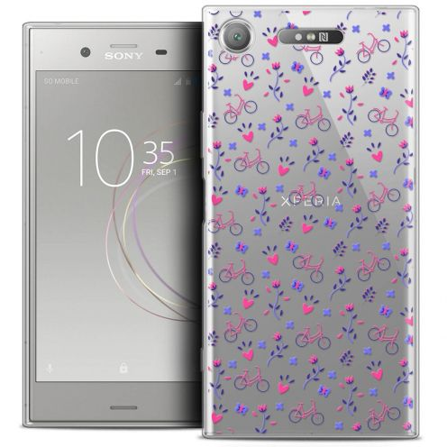 "Coque Crystal Gel Sony Xperia XZ1 (5.2"") Extra Fine Love - Bicycle"