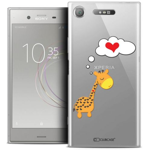 "Coque Crystal Gel Sony Xperia XZ1 (5.2"") Extra Fine Love - Girafe Amoureuse"