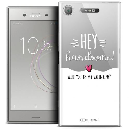 "Coque Crystal Gel Sony Xperia XZ1 (5.2"") Extra Fine Love - Hey Handsome !"