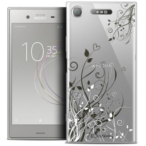 "Coque Crystal Gel Sony Xperia XZ1 (5.2"") Extra Fine Love - Hearts Flowers"