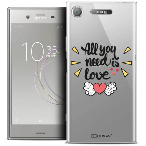 "Coque Crystal Gel Sony Xperia XZ1 (5.2"") Extra Fine Love - All U Need Is"