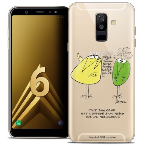 "Coque Gel Samsung Galaxy A6 PLUS 2018 (6"") Extra Fine Les Shadoks® - Le Dialogue"