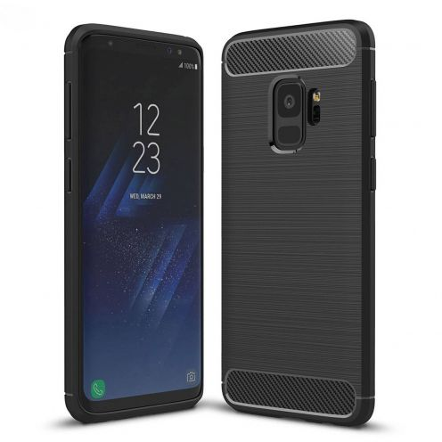 "Carbon Brush Hybrid™ Series Case for Samsung Galaxy S9 (5.8"") - Black Night"