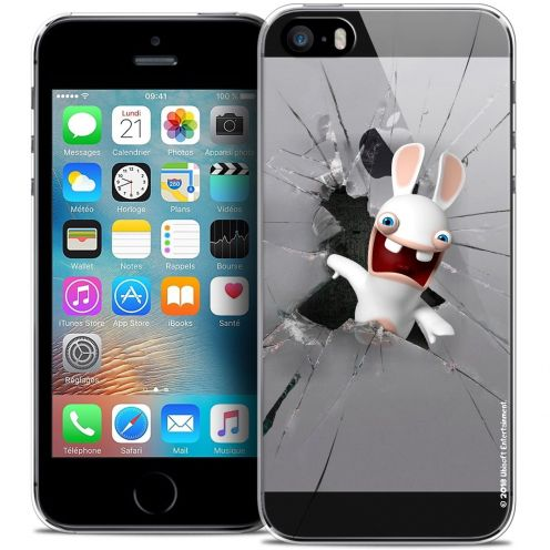 Coque iPhone 5/5s/SE Extra Fine Lapins Crétins™ - Breaking Glass