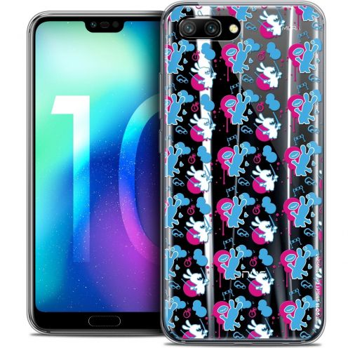 """Coque Gel Huawei Honor 10 (5.8"""") Extra Fine Lapins Crétins™ - Rugby Pattern"""