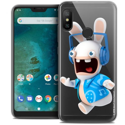 "Crystal Gel Xiaomi Mi A2 LITE (5.8"") Case Lapins Crétins™ Techno Lapin"