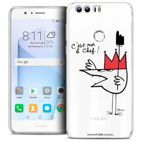 "Extra Slim Crystal Gel Huawei Honor 8 (5.2"") Case Les Shadoks® Le Chef"