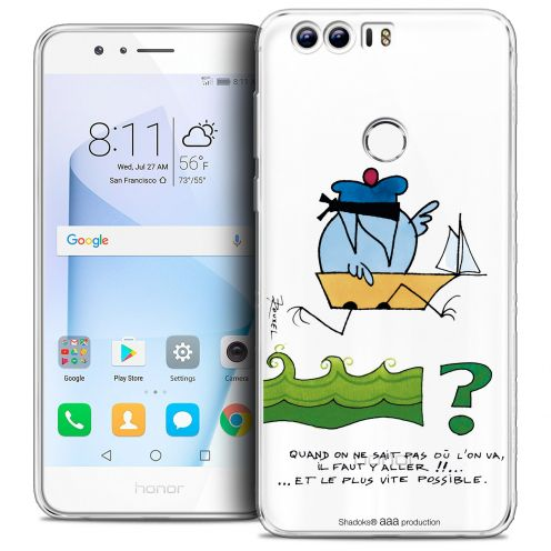 "Coque Gel Huawei Honor 8 (5.2"") Extra Fine Les Shadoks® - Il Faut Y Aller !!"