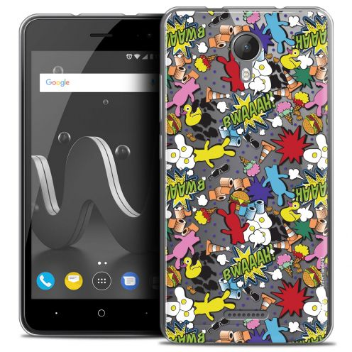 """Coque Gel Wiko Jerry 2 (5"""") Extra Fine Lapins Crétins™ - Bwaaah Pattern"""