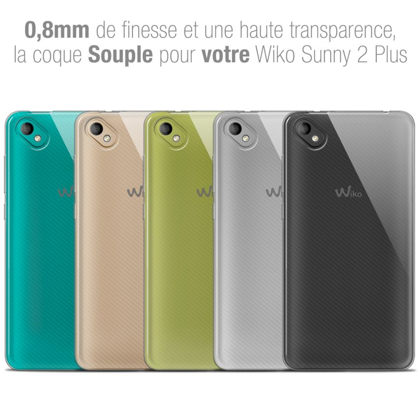 "Coque Wiko Sunny 2 PLUS (5"") Extra Fine Souple Crystal Clear"
