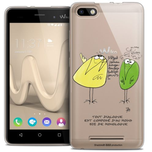 Extra Slim Crystal Gel Wiko Lenny 3 Case Les Shadoks® Le Dialogue