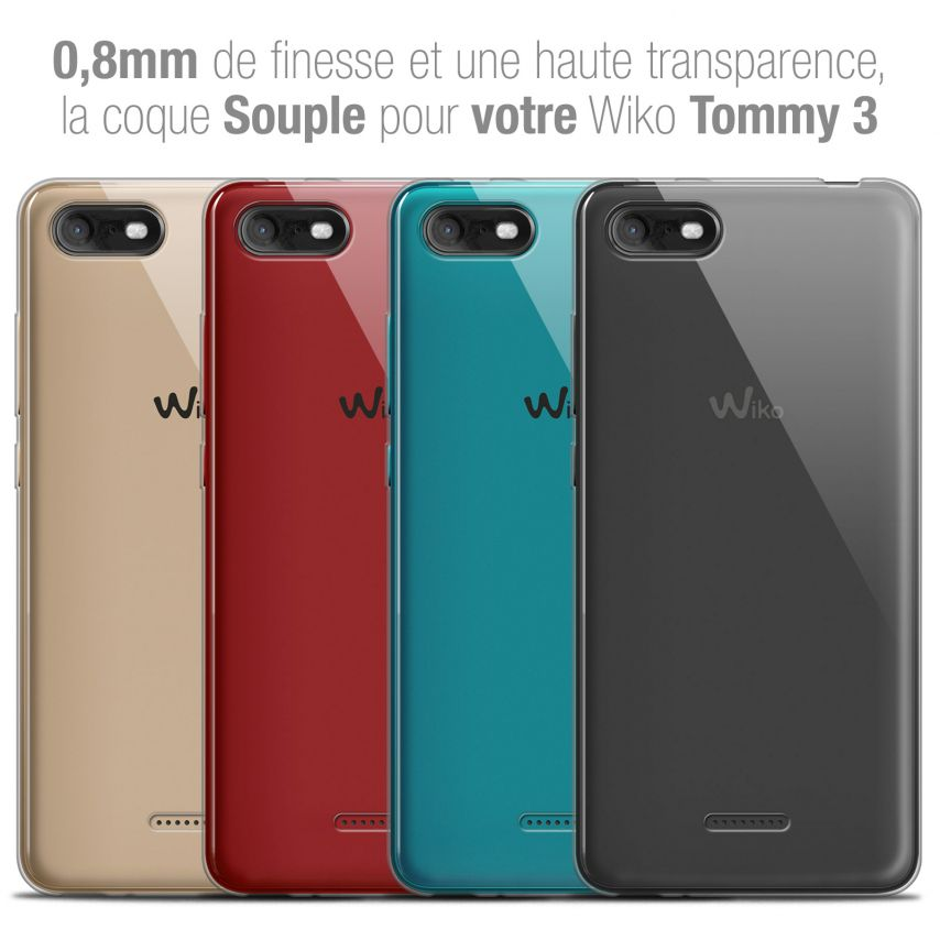 "Coque Wiko Tommy 3 (5.45"") Extra Fine Souple Crystal Clear"
