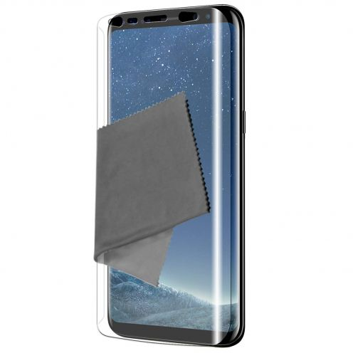 Clubcase ® Ultra Clear Full Cover HD screen protector for Galaxy S8 3-Pack
