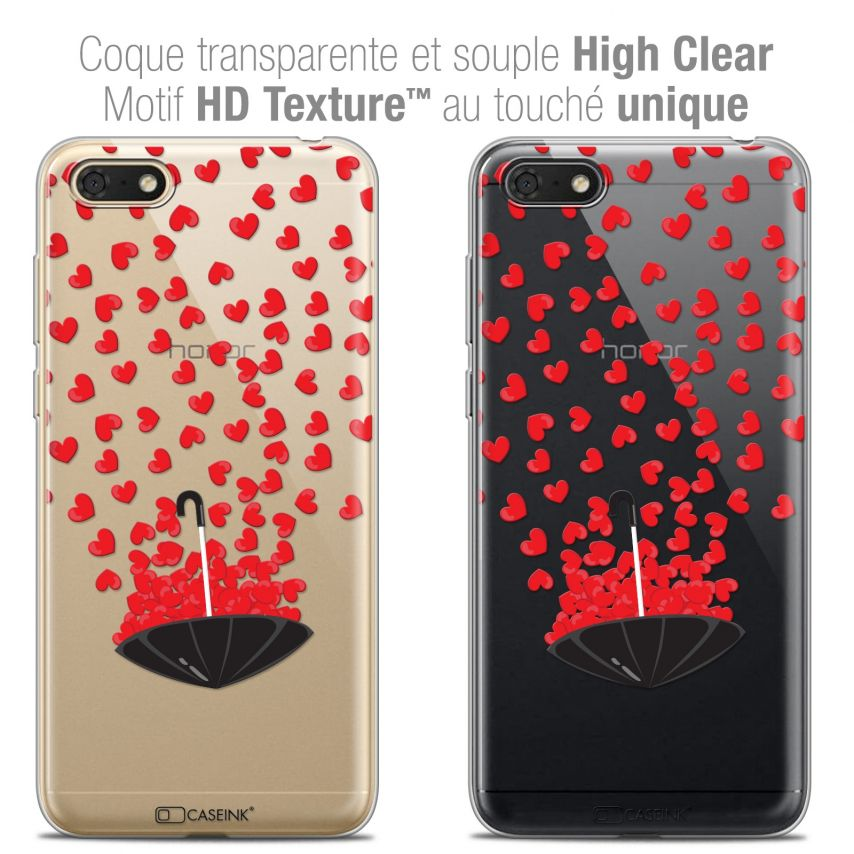 """Coque Crystal Gel Honor 7S (5.45"""") Extra Fine Love - Parapluie d'Amour"""