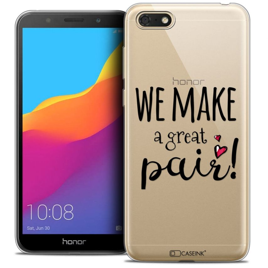 """Coque Crystal Gel Honor 7S (5.45"""") Extra Fine Love - We Make Great Pair"""