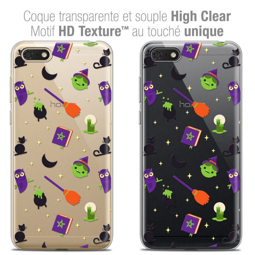 """Extra Slim Crystal Gel Honor 7S (5.45"""") Case Halloween Witch Potter"""