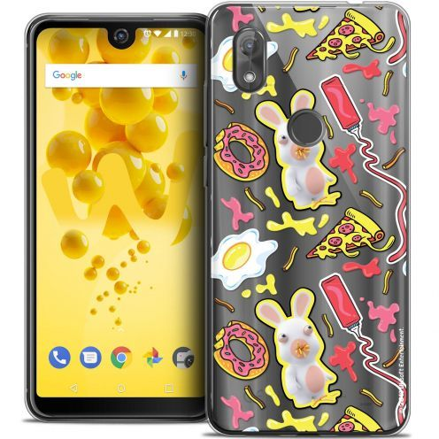 """Coque Gel Wiko View 2 (6.0"""") Extra Fine Lapins Crétins™ - Egg Pattern"""