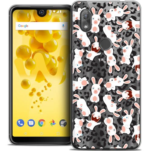 """Coque Gel Wiko View 2 (6.0"""") Extra Fine Lapins Crétins™ - Leopard Pattern"""