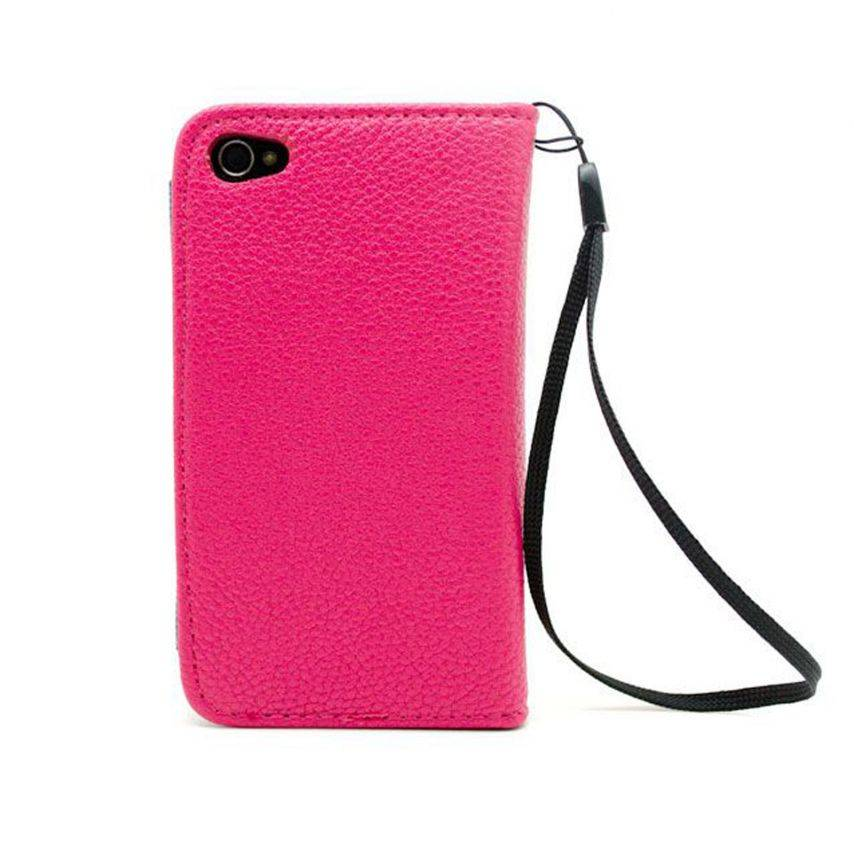 Visuel unique de Etui iPhone 4S / 4 Portefeuille Cuir GOLF Rose