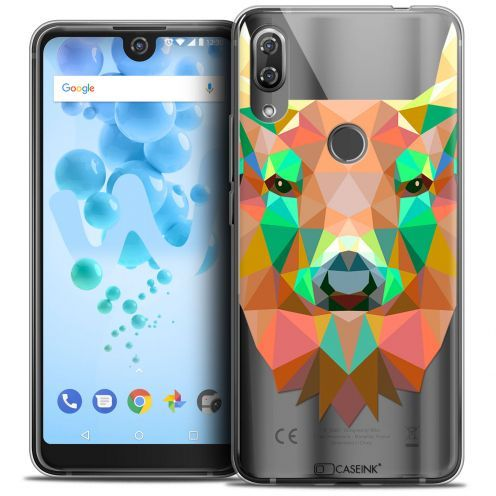 "Extra Slim Crystal Gel Wiko View 2 PRO (6.0"") Case Polygon Animals Deer"