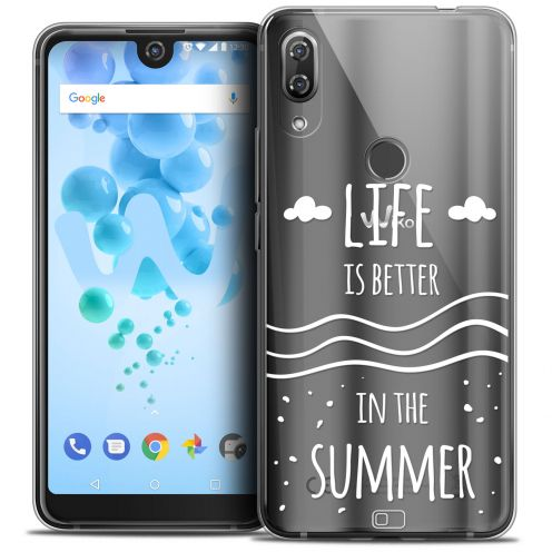 "Extra Slim Crystal Gel Wiko View 2 PRO (6.0"") Case Summer Life's Better"