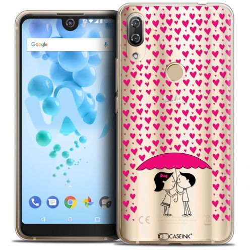 "Extra Slim Crystal Gel Wiko View 2 PRO (6.0"") Case Love Pluie d'Amour"