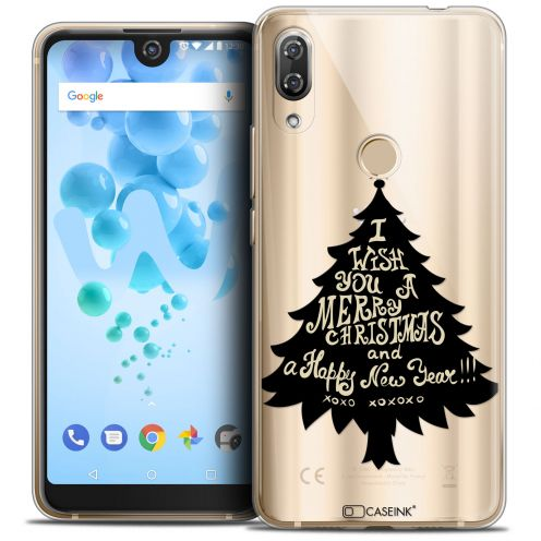 "Extra Slim Crystal Gel Wiko View 2 PRO (6.0"") Case Noël 2017 XOXO Tree"
