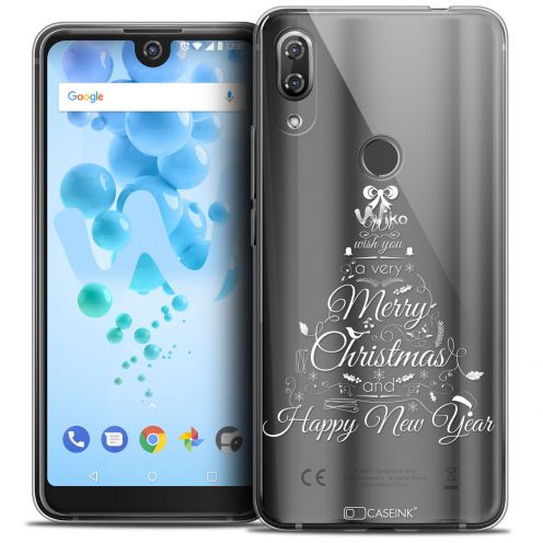"Coque Crystal Gel Wiko View 2 PRO (6.0"") Extra Fine Noël 2017 - Calligraphie"