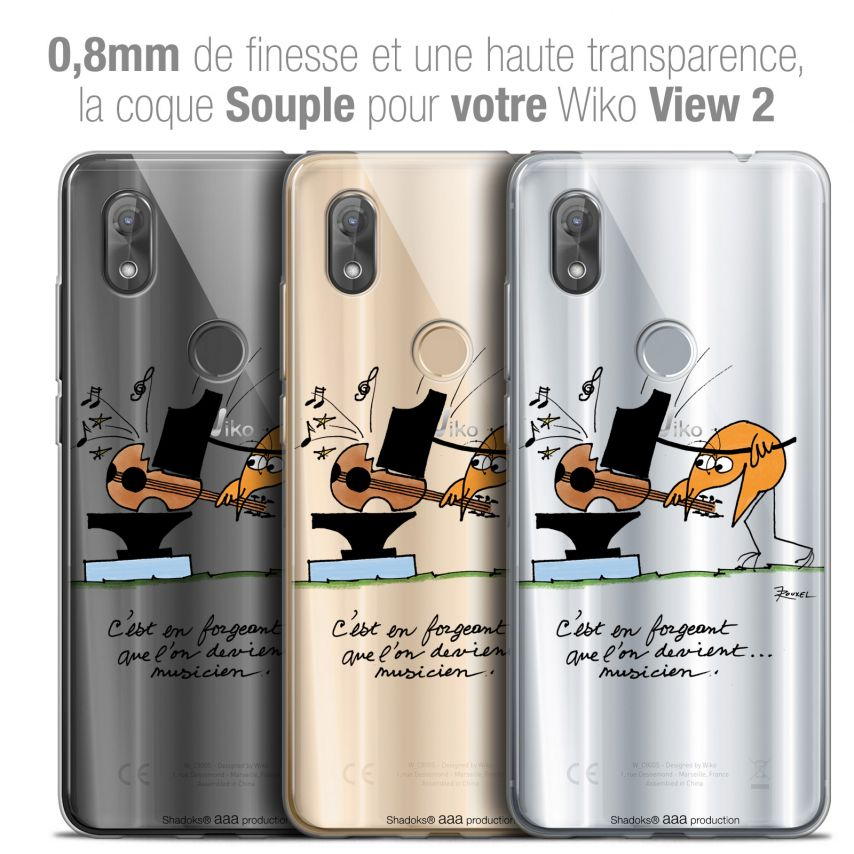 "Coque Gel Wiko View 2 (6.0"") Extra Fine Les Shadoks® - Musicien"