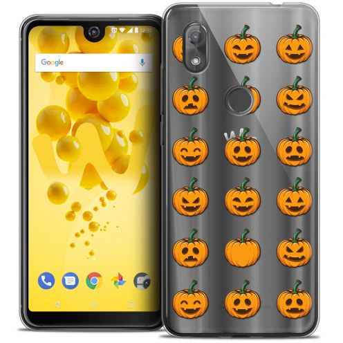"Coque Crystal Gel Wiko View 2 (6.0"") Extra Fine Halloween - Smiley Citrouille"
