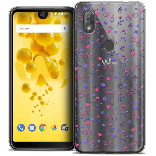 "Coque Crystal Gel Wiko View 2 (6.0"") Extra Fine Love - Bicycle"