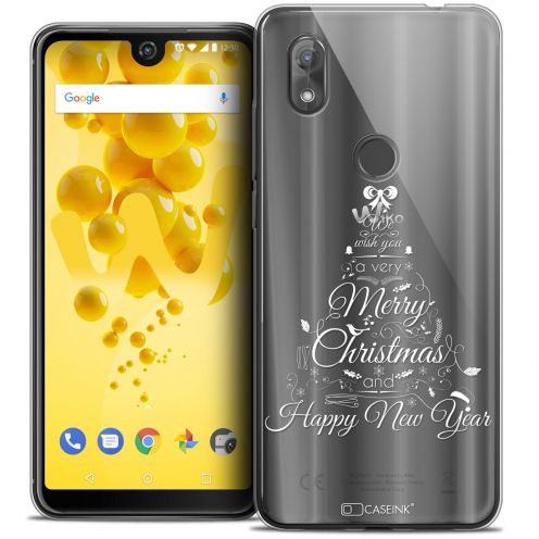 """Coque Crystal Gel Wiko View 2 (6.0"""") Extra Fine Noël 2017 - Calligraphie"""