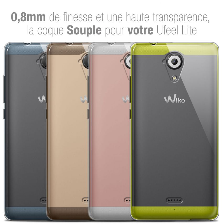 Extra Slim 1mm Crystal Clear View Flexible Case Wiko U Feel Lite