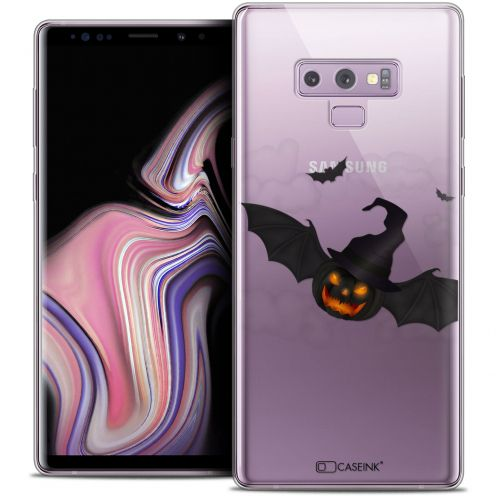"Coque Crystal Gel Samsung Galaxy Note 9 (6.4"") Extra Fine Halloween - Chauve Citrouille"
