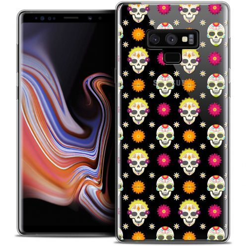 "Extra Slim Crystal Gel Samsung Galaxy Note 9 (6.4"") Case Halloween Skull Halloween"