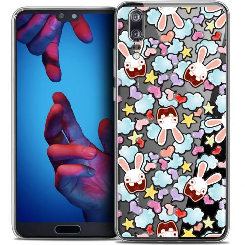 """Coque Gel Huawei P20 (5.8"""") Extra Fine Lapins Crétins™ - Love Pattern"""