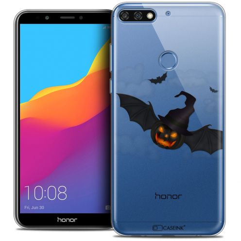 "Extra Slim Crystal Gel Honor 7C (5.99"") Case Halloween Chauve Citrouille"
