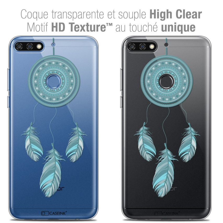 "Extra Slim Crystal Gel Honor 7C (5.99"") Case Dreamy Attrape Rêves Blue"